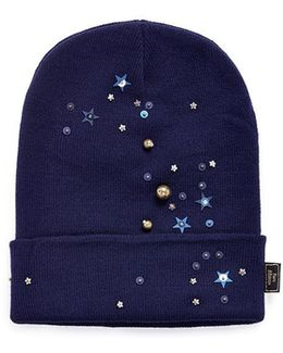 Star Sequin Embellished Beanie