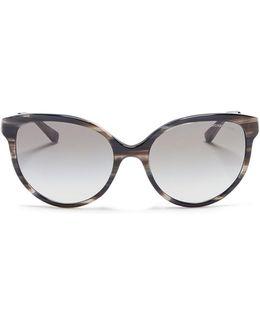 'abi' Streak Effect Acetate Cat Eye Sunglasses