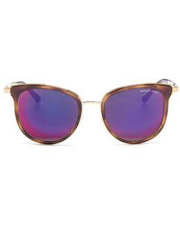 'adrianna' Acetate Round Mirror Sunglasses