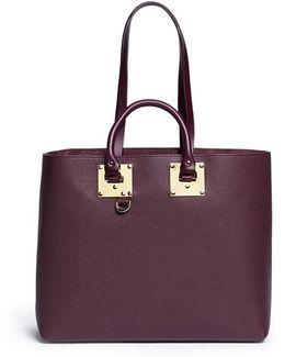 'cromwell East West' Calfskin Leather Tote Bag