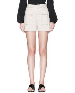 'vasilica' Belted Poplin Shorts