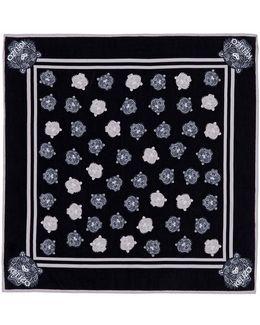 Tiger Jacquard Cotton-silk Twill Bandana
