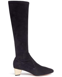'prism' Suede Knee High Sock Boots