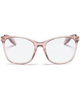 Metal Temple Acetate Square Optical Glasses
