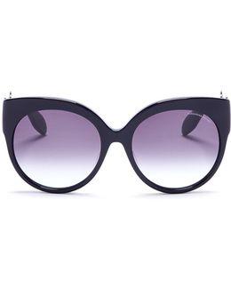 Skull Filigree Oversized Acetate Sunglasses