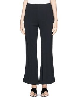 'carel' Cropped Stretch Jersey Flared Pants