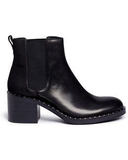 'xox' Stud Welt Leather Chelsea Boots