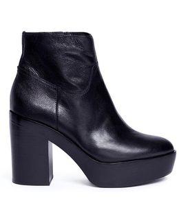 'dakota' Leather Platform Ankle Boots