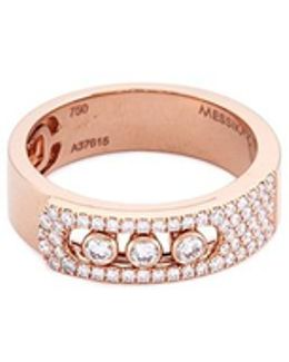 'move Noa' Diamond 18k Rose Gold Ring