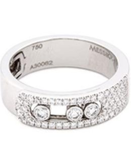 'move Noa' Diamond 18k White Gold Ring
