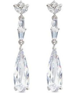 'deco' Cubic Zirconia Teardrop Link Earrings