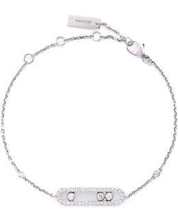 'baby Move Pavé' Diamond 18k White Gold Bracelet