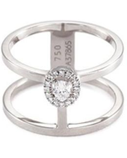 'glam'azone 2 Row' Diamond 18k White Gold Ring