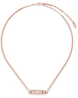 'move' Diamond 18k Rose Gold Necklace