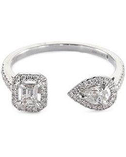 'my Twin' Diamond 18k White Gold Ring
