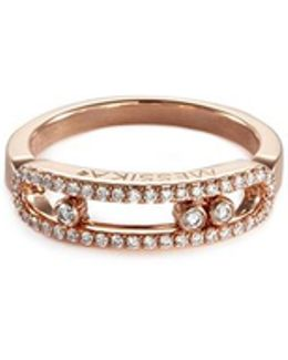 'baby Move Pavée' Diamond 18k Rose Gold Ring
