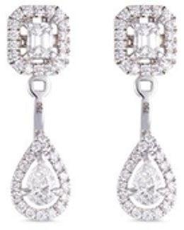 'my Twin Toi & Moi' Diamond 18k White Gold Earrings
