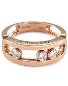 'move' Diamond 18k Rose Gold Ring