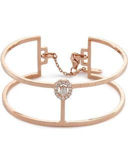 'glam'azone Skinny 2 Row' Diamond 18k Rose Gold Bracelet
