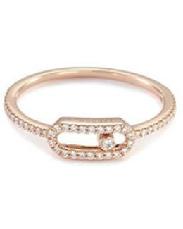 'move Uno Pavée' Diamond 18k Rose Gold Ring