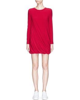 'long Sleeve Twist Mini' Ruched Skirt