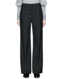 Pearlescent Button Wide Leg Suiting Pants