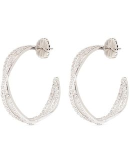 'eternity' Cubic Zirconia Twist Hoop Earrings
