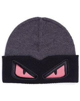 'bag Bugs' Embroidered Wool Beanie