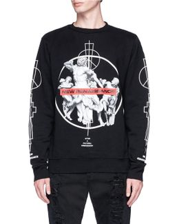 'fainu' Print Sweatshirt