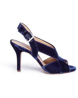 'becky' Velvet Slingback Sandals
