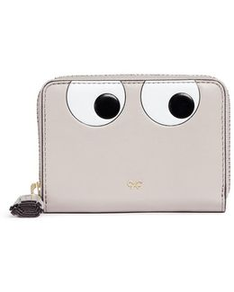 'eyes' Small Leather Zip Wallet