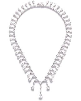 Pear Cut Cubic Zirconia Drop Necklace