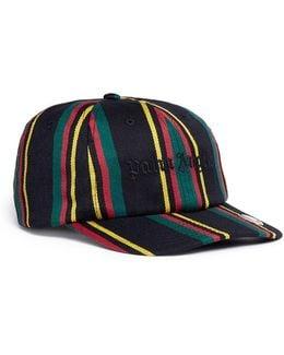 'rastafari' Regimental Stripe Baseball Cap