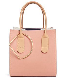 'weekend' Colourblock Mini Calfskin Leather Bag