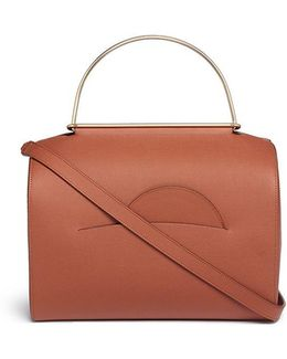 'no. 1' Ring Handle Leather Shoulder Bag
