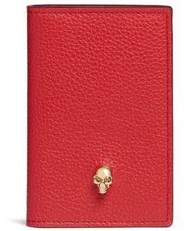 Skull Leather Small Pocket Organiser