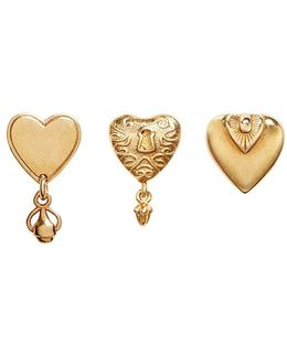 Heart Stud Earring 3-piece Set