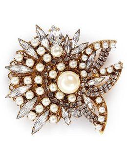 'born Again' Swarovski Crystal Glass Pearl Brooch