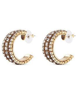 Swarovski Crystal Cutout Hoop Earrings