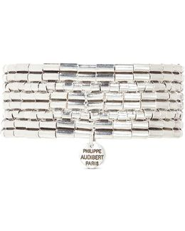 'line Three' Segmented Plate Elastic Bracelet