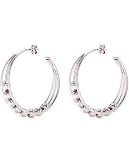 'anton' Bead Cutout Hoop Earrings