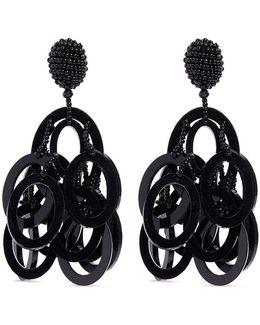 Beaded Tiered Hoop Earrings