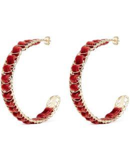 'leva' Velvet Wire Hoop Earrings