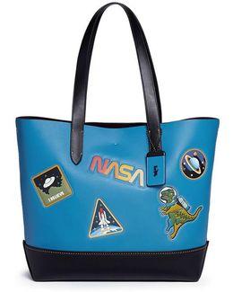 'gotham' Space Motif Glovetanned Leather Tote Bag