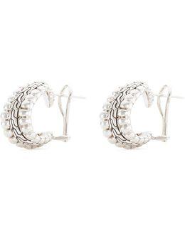 Silver Chain Effect Buddha Belly Earrings
