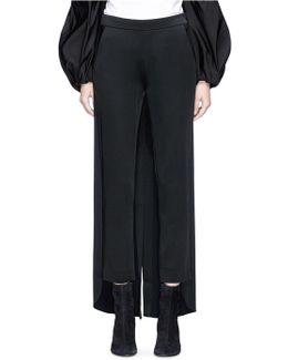 'palmetto' Tuxedo Tail Satin Cigarette Pants