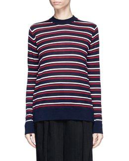 Stripe Merino Wool Boyfriend Sweater