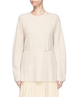 'gisella' Sash Waist Sweater