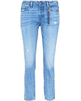 'savanna' Distressed Cropped Jeans