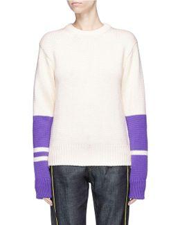 Colourblock Wool Sweater